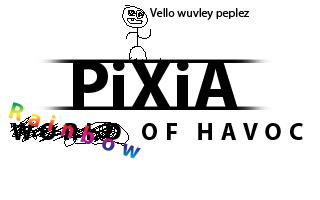 Zoomed screenshot of PiXiA: Rainbow of Havoc
