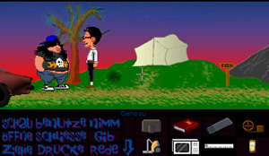 Zoomed screenshot of Maniac Mansion Mania - Episode 9 - radioactive