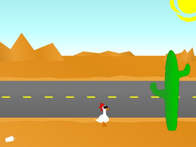 Screenshot of Chicken VS. Road