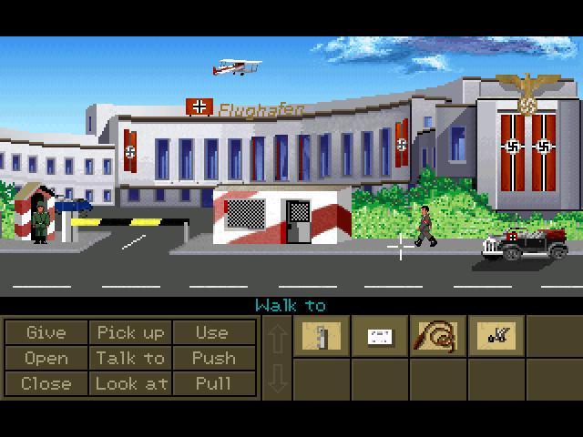 Zoomed screenshot of Indiana Jones and the Crown of Solomon demo 2.1