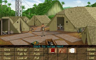Zoomed screenshot of Indiana Jones� and the Fountain of Youth DEMO
