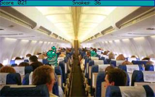 Zoomed screenshot of Snakes on a Plane