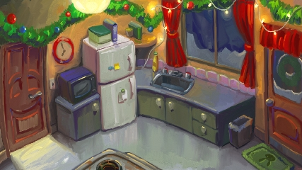 Zoomed screenshot of Christmas Quest 2: the Yuletide Flows in