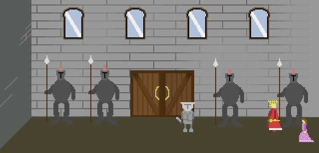 Zoomed screenshot of Knight Quest for the Golden Ring