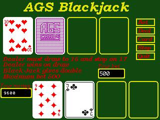 Zoomed screenshot of AGS Black Jack
