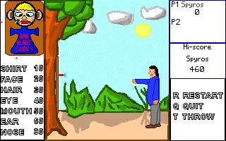 Screenshot of Little Willy's darts game