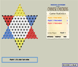 Zoomed screenshot of Chinese Checkers